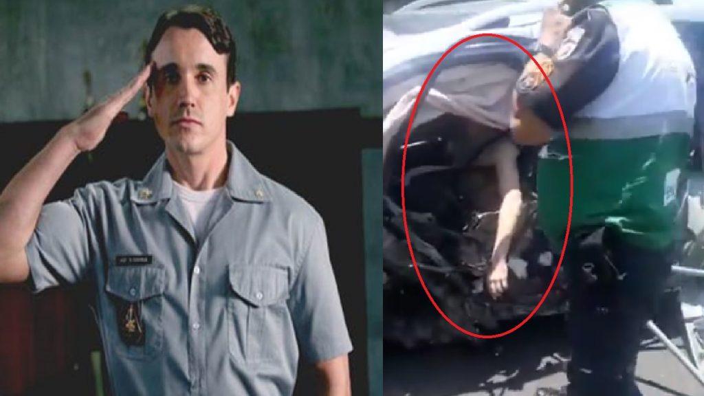 Vídeo mostra ator Caio Junqueira após acidente de carro - Foto/Divulgação