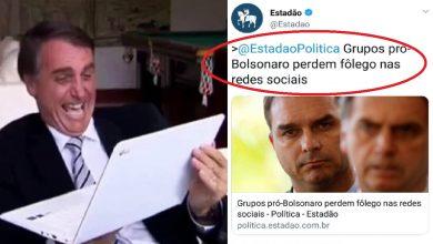 Estadão diz que apoio a Bolsonaro recuou e causa indignação - Foto/Divulgação