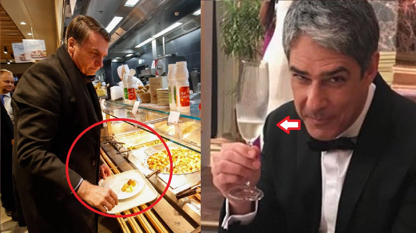 Bolsonaro almoça em restaurante popular, em Davos - Foto/Divulgação