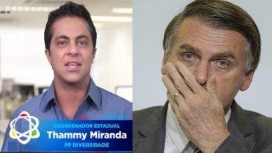 Vereador Thammy Miranda manda indireta a Bolsonaro - Foto/Montagem