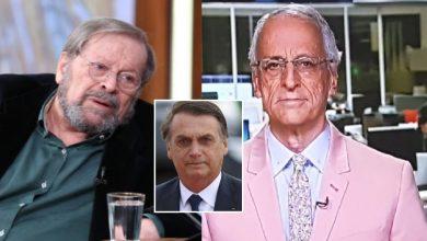 Carlos Vereza não perdoa jornalistas da Globo e o chama de 'patéticos' - Foto/Montagem