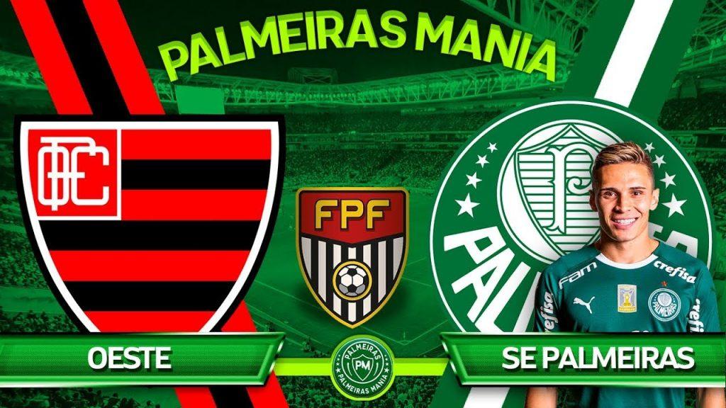 Palmeiras x Oeste ao vivo - Foto/Divulgação