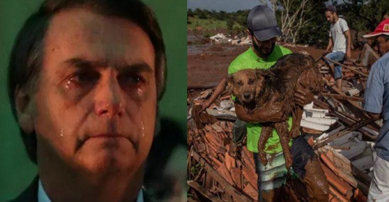 Bolsonaro diz que se emocionou em Brumadinho - Foto/Divulgação