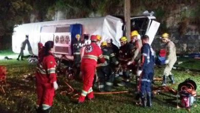 Ônibus em Goiás caiu de viaduto e dois morreram - Foto/Divulgação