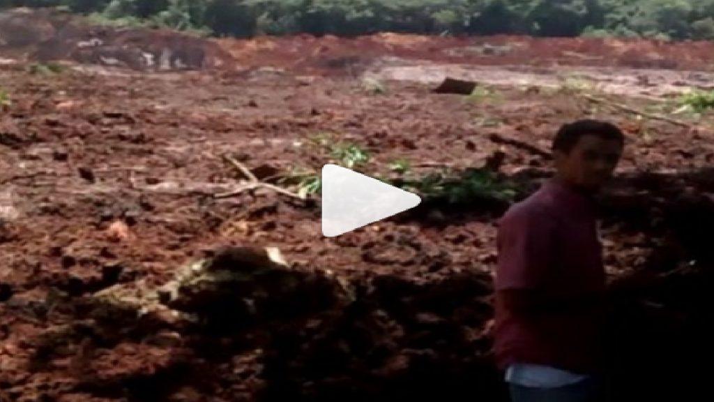 Rompimento da barragem de Brumadinho se rompe - Foto/Divulgação