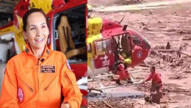 A piloto que ajudou no resgate - Foto/Divulgação