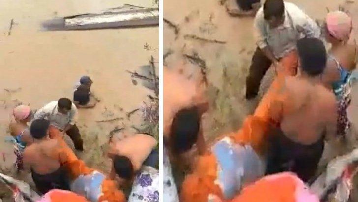 Bombeiro faz resgate heroico sozinho e resgata seis da mesma família - Foto/Divulgação