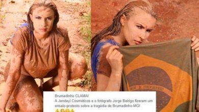 Ensaio de beleza com temática de Brumadinho causa revolta - Foto/Divulgação