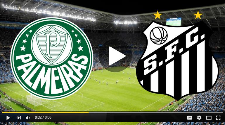 Santos x Palmeiras ao vivo - Foto/Divulgação