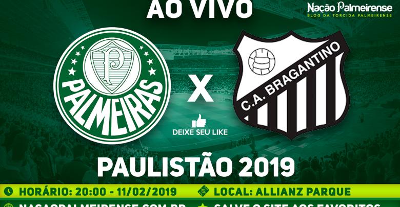Palmeiras x Bragantino ao vivo - Foto/Divulgação