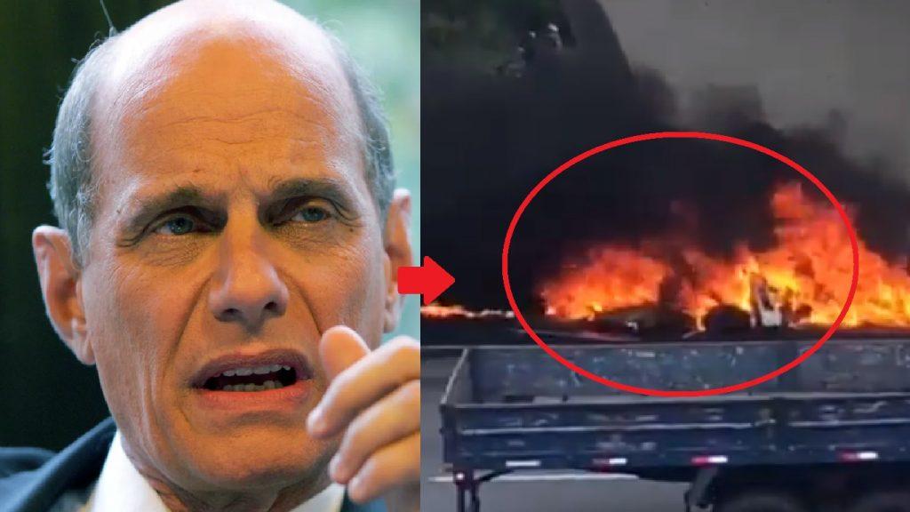 Vídeo mostra helicóptero que levava Ricardo Boeachat em chamas - Foto/Divulgação