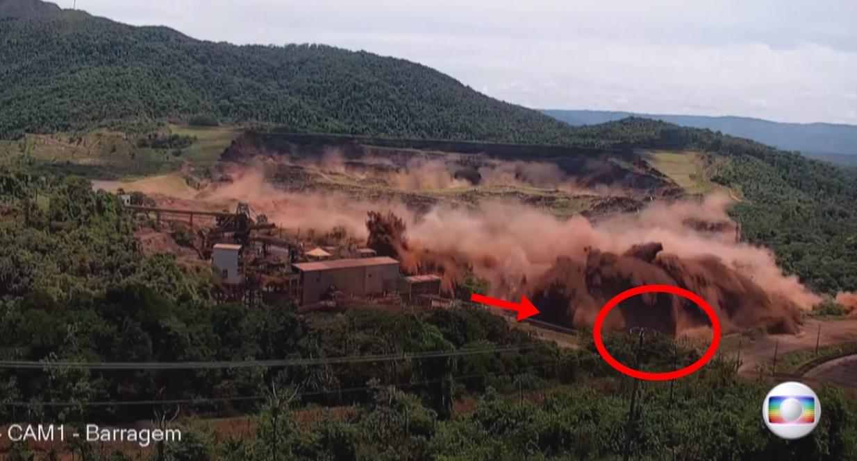 Vídeo exclusivo da Globo mostra exato momento em que Barragem de Brumadinho rompe - Foto/Divulgação